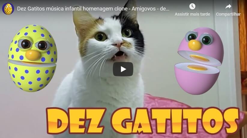 Desenho Animado Gatinhos – Dez Gatitos Música Infantil